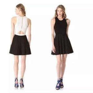 Parker Knit Black and White Skater Dress